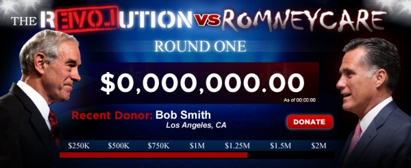 June 5th Ron Paul Money Bomb – The Revolution vs RomneyCare revolutionromneycare2 e1307074063615